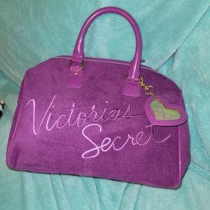 Victoria's Secret purple velour handbag